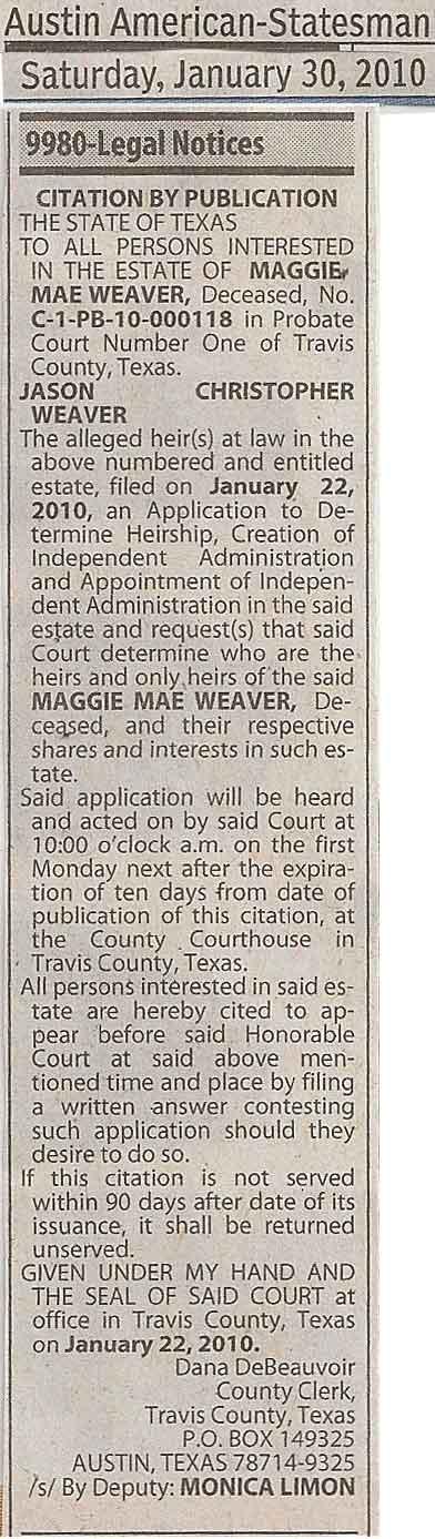 Maggie-LegalNotice-Newspape